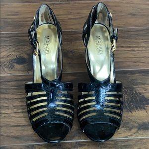 Michael Kors Strappy buckle platform heels